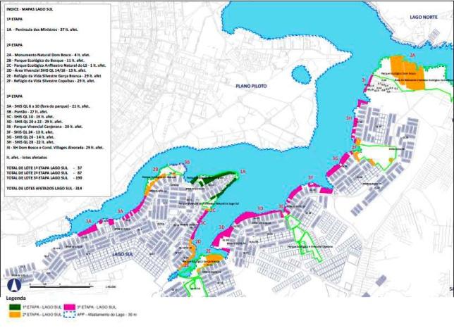 Plano de desobstrucao do lago sul